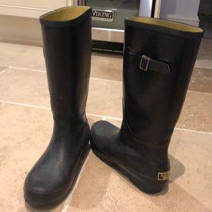 LL Bean Navy blue wellie boots. Women's Sz 9